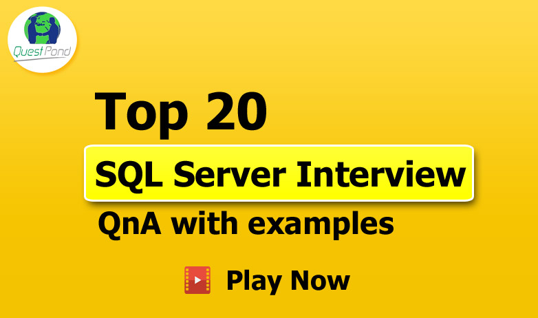 20+ SQL Interview Questions & Answers.