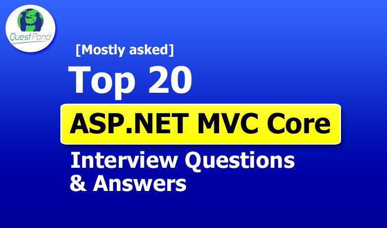 ASP.NET MVC Core Interview Questions