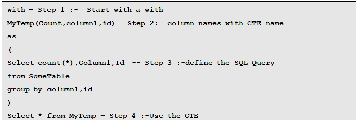 Finally You Can Use The CTE In Your SQL Query. You Can Also See SQL Server  Interview Questions ...  Server Interview Questions